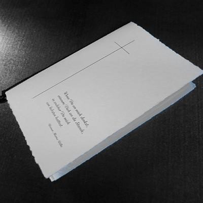 Druckerei Peters Spezialist Für Trauerkarten